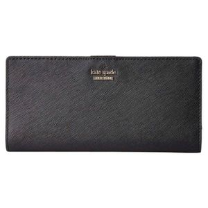 Kate Spade Cameron Large Slim Bifold Wallet Black